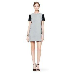 [Club Monaco] Cecelia Leather Sleeve Shift Dress 0